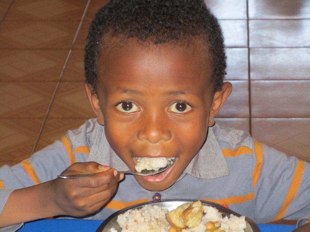 Un bambino dell'orfanotrofio di Tsaravavaka (Maggio 2018)