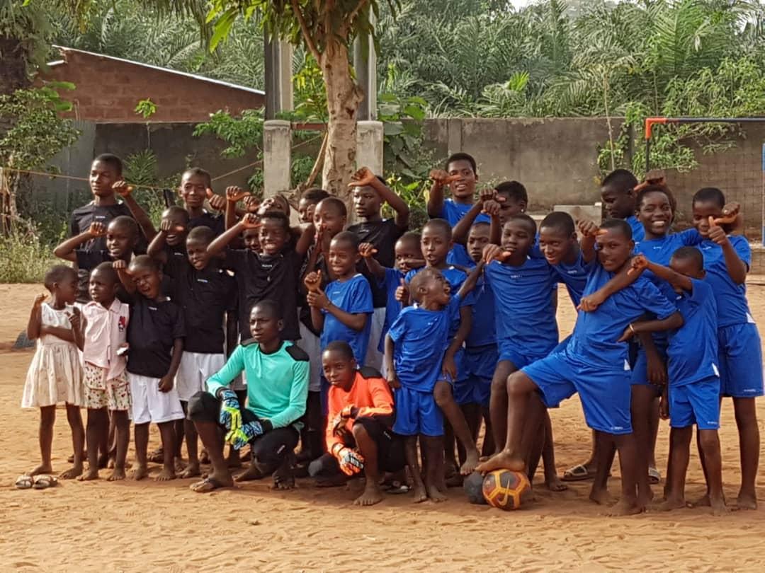 I ragazzi dell'orfanotrofio di Dagletà, in Benin (2018)